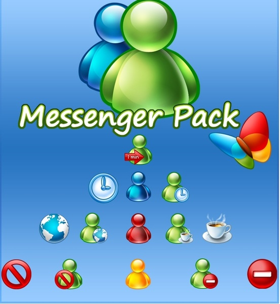 20 icons for Messenger icons pack