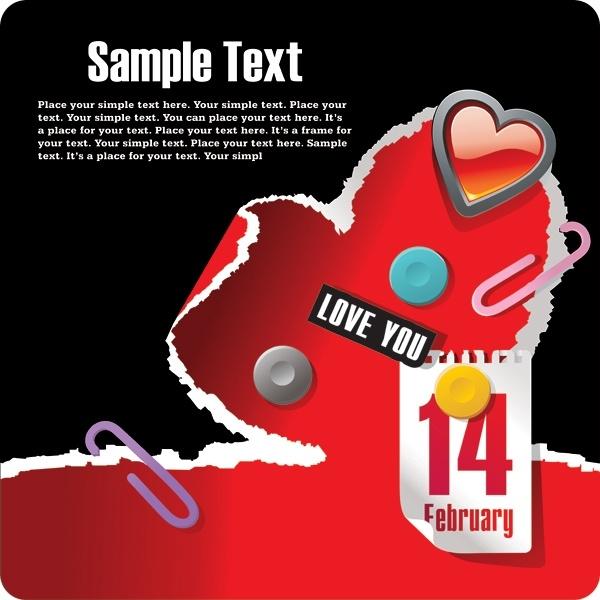 214 valentine day theme vector