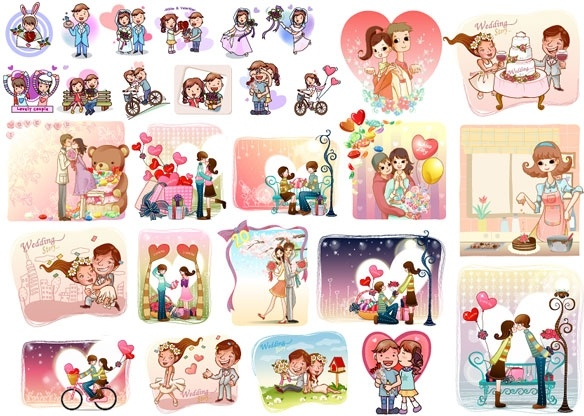 28 love theme vector
