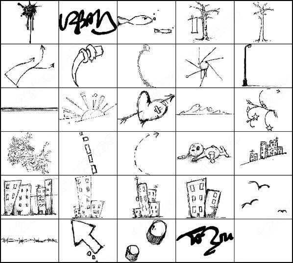 29 urban scrawl brush