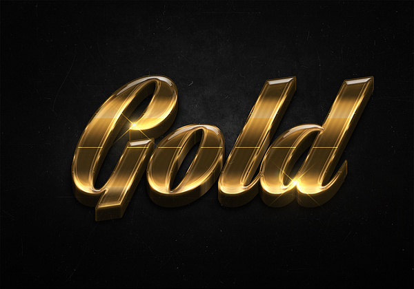 30 3d shiny gold text effects preview