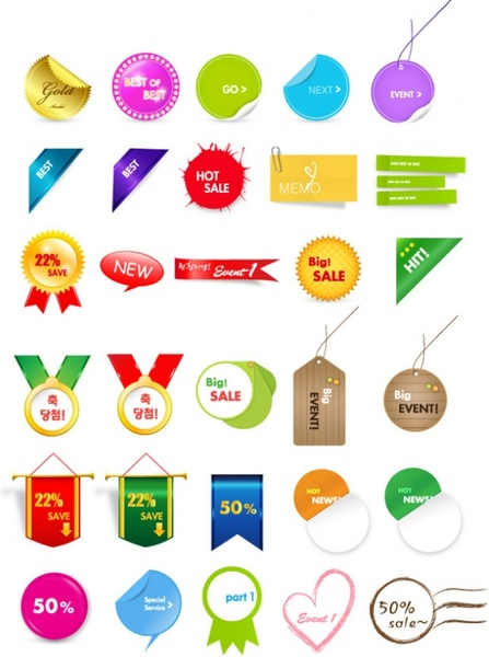30 lovely sales discount tag vector