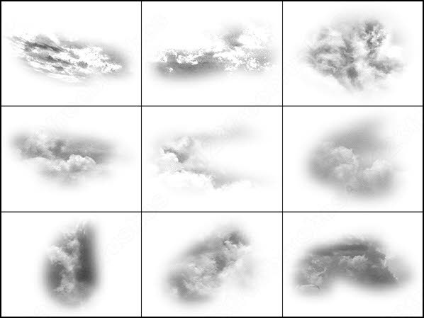 30 soft clouds textures brush