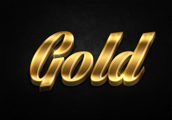 33 3d shiny gold text effects preview