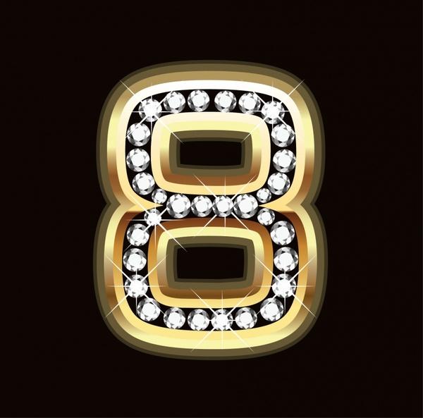 women day background diamonds decorated number luxury decor