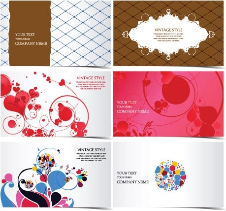 3 beautiful stylish business card template pattern vector