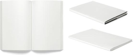 3 blank books magazines vector