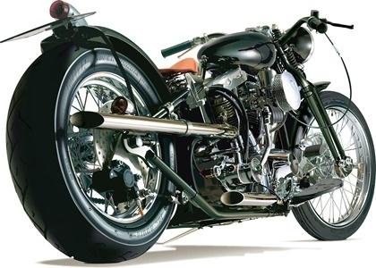 motorbike advertising rear view posing realistic style design