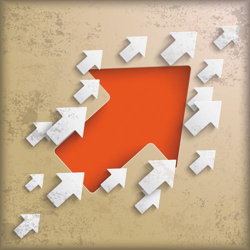 3d arrow business template background