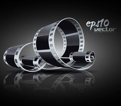 3d black and white film clip art 5