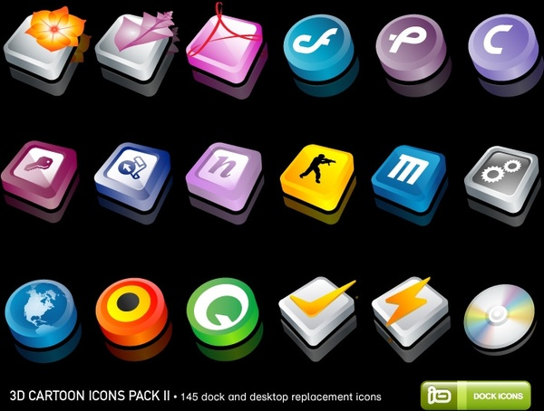 3D Cartoon Icons Pack II icons pack
