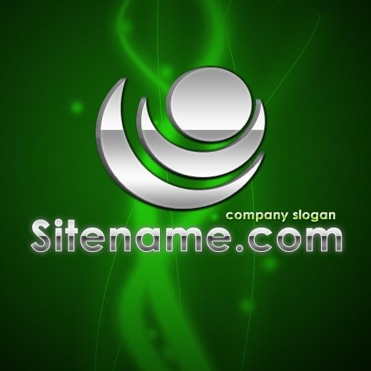 3D Chrome -Free PSD Logo