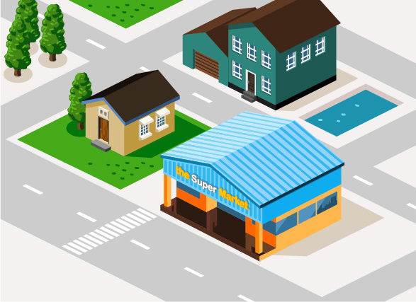 3d city building model vector set Free vector in Adobe Illustrator Free D Home Building on free 3d house plans, free 3d house models, free 3d business, free 3d printing, free 3d design, free 3d software, design home building,