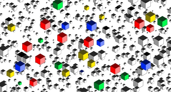 3d Colorful Cubes Background Vector Illustration Free Vector In