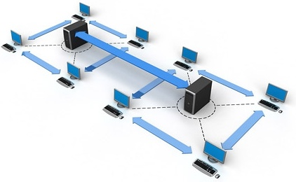 3d computer network connection picture 3