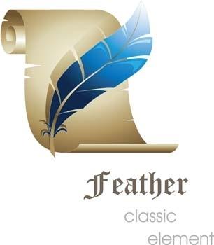 3d feather classic vector element, 3d vector design illustrator ai, photoshop 3d illustrator ai, classic design illustrator vector