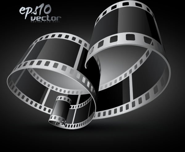 movie banner template modern 3d dynamic filmstrip decor