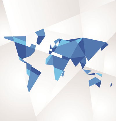3d Geometric Shapes World Map Vector Free Vector In Encapsulated