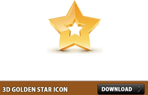 3D Golden Star Icon PSD
