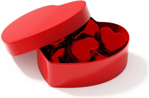 3d heartshaped series of highdefinition picture heartshaped gift box