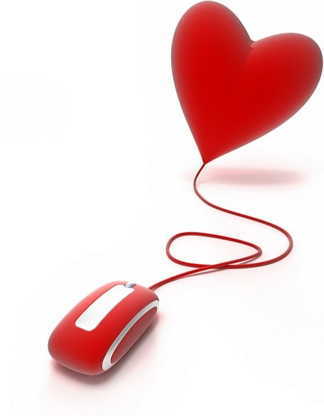 3d heartshaped series of highdefinition picture love the mouse