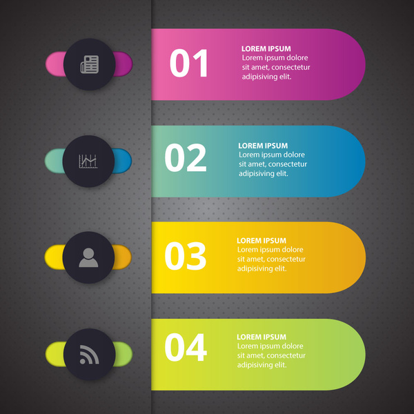 3d infographic design with colorful horizontal bars