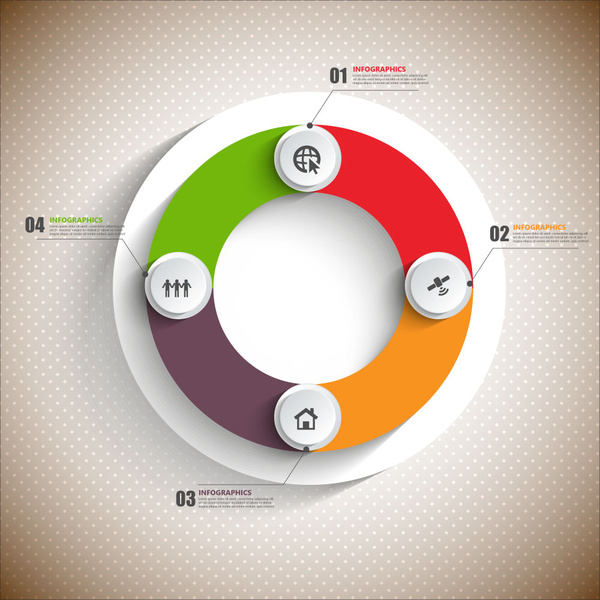 3d infographic vector illustration with cycle round