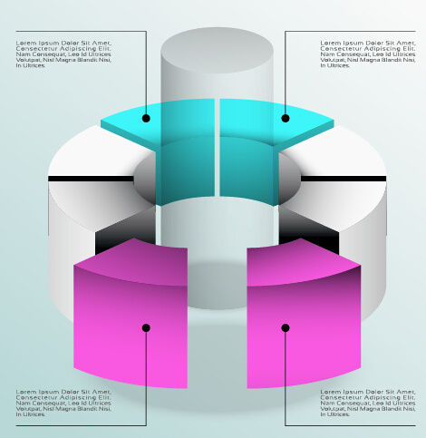3d infographics business layout vector