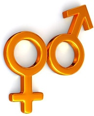 3d male and female symbols picture