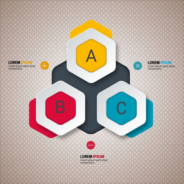 3d modern style infographic design with geometric arrangement