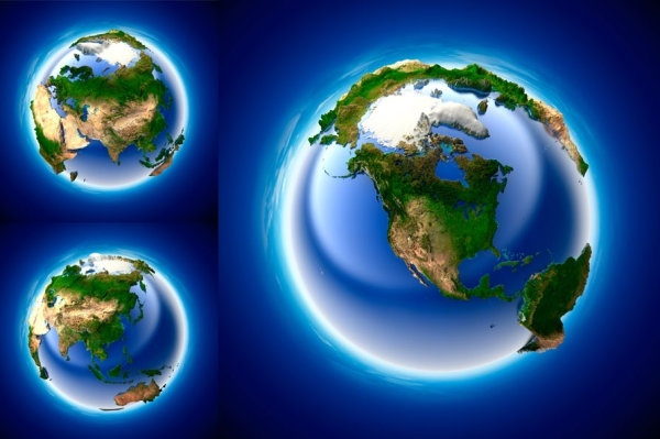 3d multiangle earth hd picture
