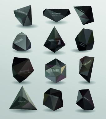 3d origami speech bubbles vector