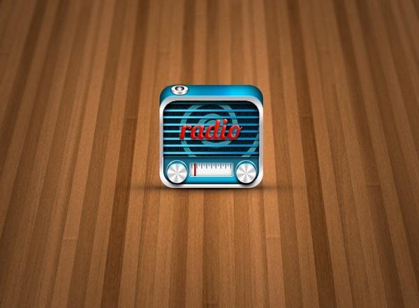 3D Radio Icon