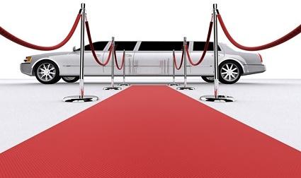 3d red carpet limousine picture