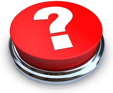 3d red question mark button image
