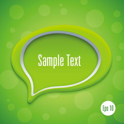 3d speech bubble vector template