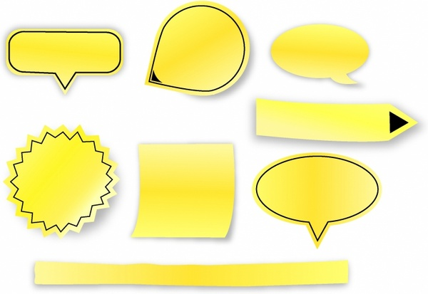 sticky notes free vector download (1,364 free vector) for