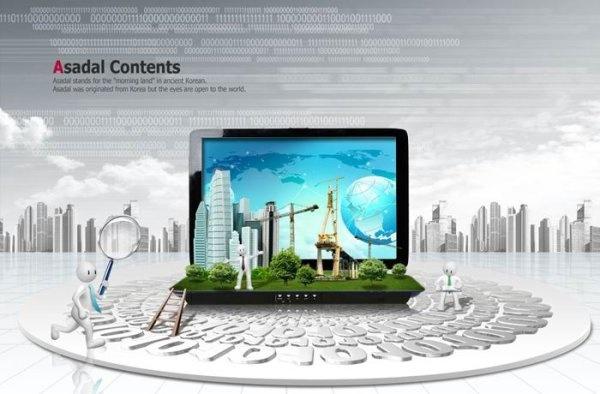 3d the villain creative business concept of the digital era psd layered
