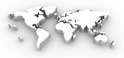 Map Of The World 3d.3d Threedimensional Map Of The World Picture Free Stock Photos In
