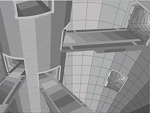 3d vector style building
