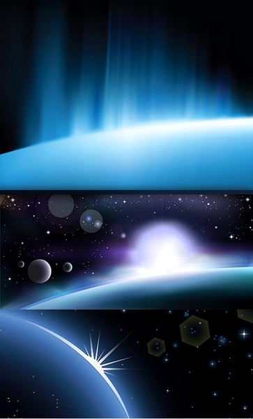 3glare background vector space
