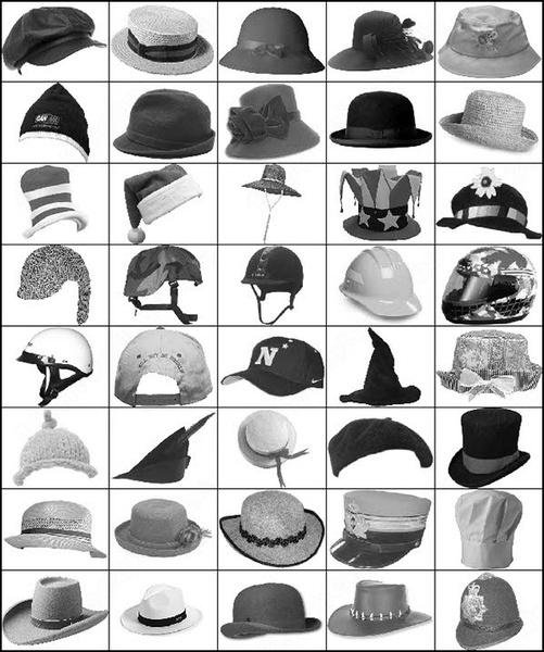 40 hats brush