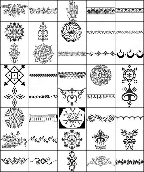 44 henna decorative brush