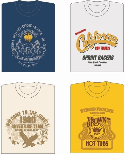 4 Vector T-shirt Designs