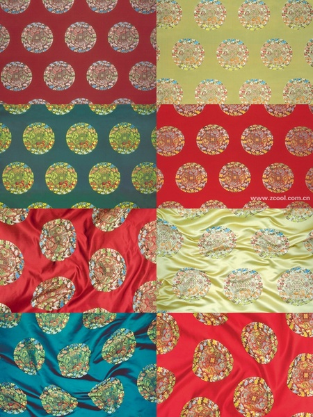 4color the wulong group of chinese fabric background hd picture 8p