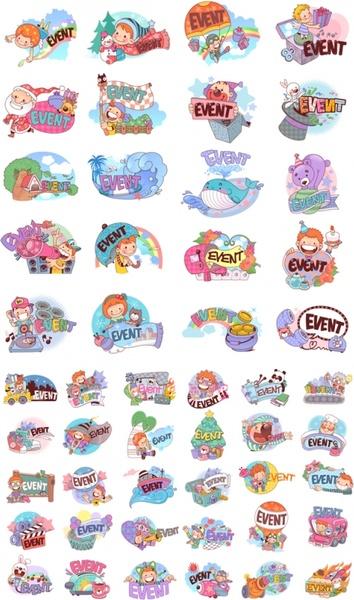 50 clip art cartoon character scenes