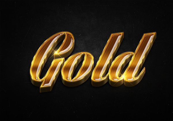 53 3d shiny gold text effects preview