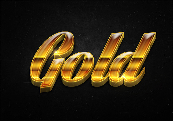 56 3d shiny gold text effects preview