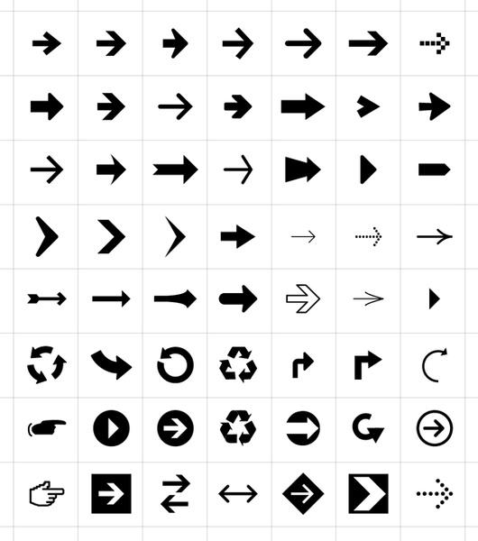 56 Free Arrow Symbols Icons Free Vector In Adobe Illustrator Ai