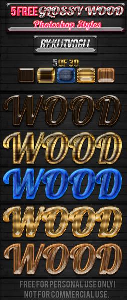 5 free glossy wood styles